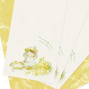 2way スリムラインカード『芽吹ちゃんのミモザカード』~和み工房kumi~