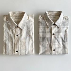 オーガニックコットン チェック/ストライプ レギュラーカラーシャツ|THE HINOKI