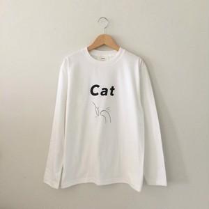 Dog & Cat Tシャツ-長袖