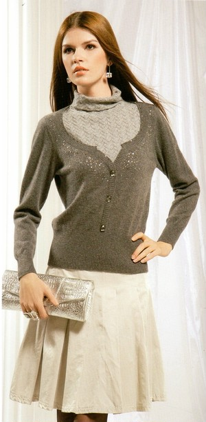 【36】 #8223-B TURTLE NECK 【LL】 (CASHMERE&WOOL)