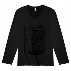 HIDDEN DOOR Tシャツ(黒×黒)