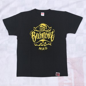 BURNOUT Mr.G DESIGN T-SHIRT/BLACK
