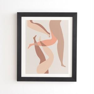 フレーム入りアートプリント  CHILLING IN NEUTRALS  BY MAMBO ART STUDIO【受注生産品: 8月下旬入荷分 オーダー受付中】