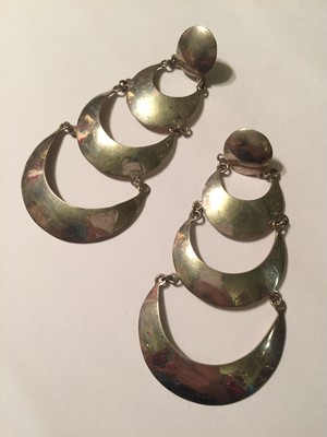 Vintage mexican 925 silver pierced earrings ( ヴィンテージ  メキシカンシルバー ピアス )