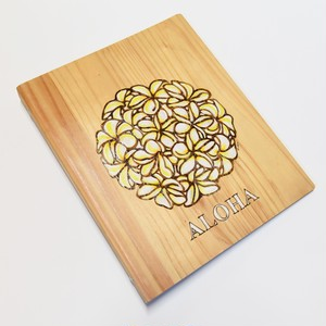 Wood File A4 【Plumeria Circle Yellow】