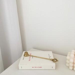 gold candle snaffer / アンティーク調 ゴールド フラワー キャンドル スナッファー 火消し 韓国 北欧 雑貨