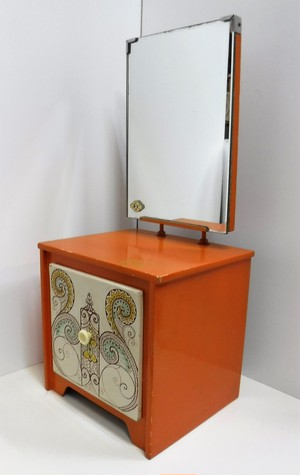 レトロな卓上鏡台【オレンジ】(1226114S80)