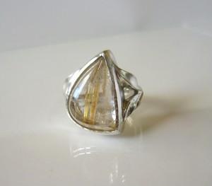 ルチルクォーツの指輪