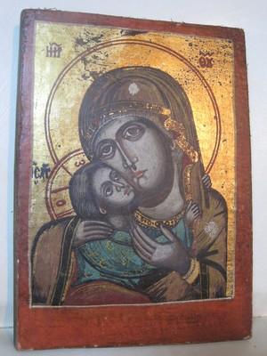 イコン 聖母マリアに幼子イエス(エレウサ型)慈憐の生神女・憐れみの聖母