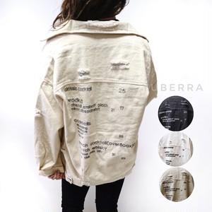 《送料無料》バック刺繍カラーデニムジャケット【812570BB15】Gジャン