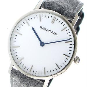 ROSSLING ロスリング CLASSIC 36MM Stirling クオーツ ユニセックス 腕時計 RO-005-006 ライトグレー/ホワイト ホワイト