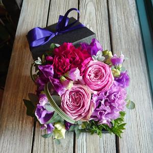 ボックスフラワー purple~パープル~