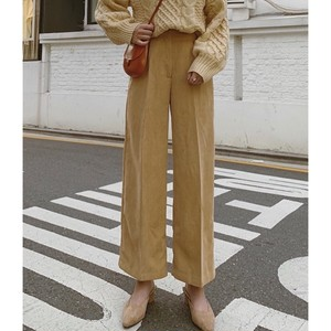 Corduroy  Center press Wide Pants   156 送料無料