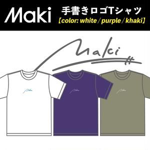 Maki 手書き ロゴTシャツ
