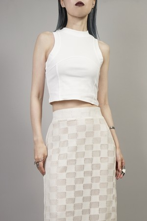 SWITCHING CROPPED TANK TOP  (WHITE) 2106-70-70