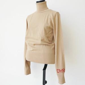 DENNY ROSE 袖口ロゴデザインタートルニット(3カラー):921DD50034 ¥19,000+tax