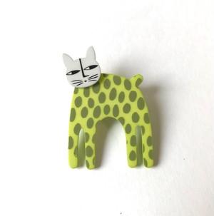 K-Formブローチ(立ってる猫:カラー)