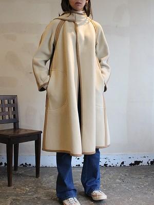 70s wool reversible coat