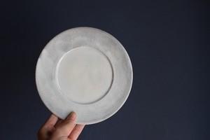 八木橋昇 古粉引三島リム皿 5寸