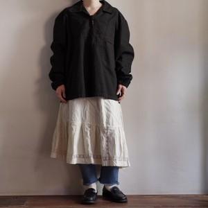 Czech Pullover Work Shirt #1 / HBT / NOS / チェコ軍 後染め プルオーバー シャツ /ヘリンボーン ツイル