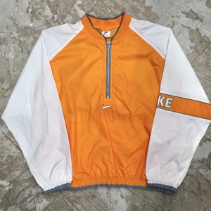 NIKE half zip pullover nylon jacket orange
