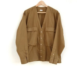blurhms Soft Ox Utility Collarless Jacket Caml