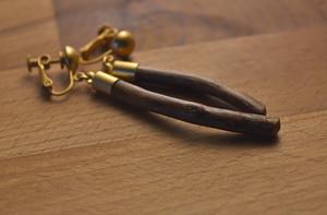 【限定品】自然の小枝のイヤリング/ピアス 0301