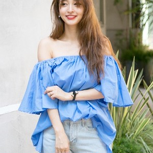 Off Shoulder Blouse/Light Blue