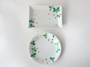 ワイルドストロベリー皿(丸,角)