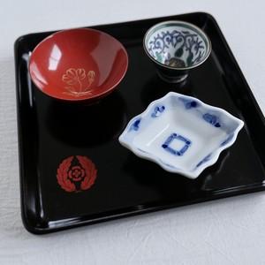 [KR063] 輪島塗 小角盆  / Wajima Nuri Tray