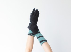 % PERCENT 手袋 (CONFORTABLE:ブラック・ミントグリーン)指暖・セルフヒーター・ホールガーメント・裏起毛・スマホ対応・ギフト箱付き(男女兼用フリーサイズ)