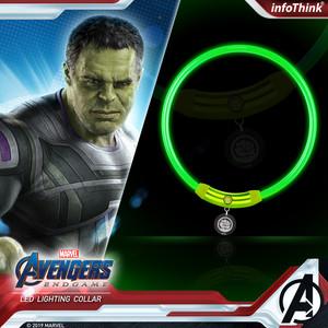 InfoThink ライティングカラー MARVEL アベンジャーズ エンドゲーム 光る首輪 ハルク iCollar(Hulk)