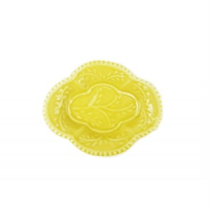 有田焼 豆皿手塩皿 木瓜型 黄釉