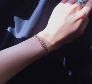 Christian Dior flat link chain bracelet
