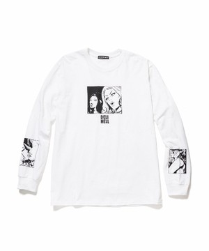 """Vampire"" L/S Tee  WHITE  19SS-DH-08"