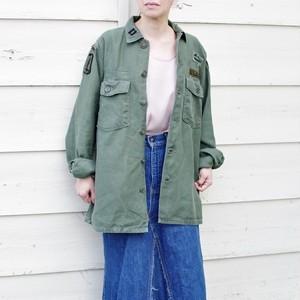 1960s US ARMY Utility Shirt / バック サテン アーミー ユーティリティー / OG 107 ミリシャツ