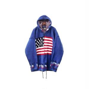 USED - Hooded Knit Zip Parka ¥13000+tax → ¥9100+tax