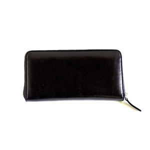 ROUND ZIP WALLET ラウンドファスナー財布 <ブラック>