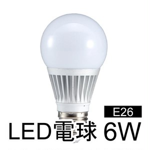 LED電球 一般電球タイプ 消費電力6W 口金E26