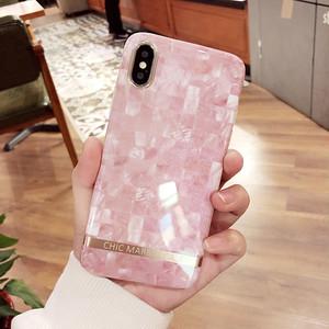 ORIGINAL 大理石紋 ピンク アイフォン8プラスケース キラキラ ソフトケース アイフォン7カバー ジャケット 耐衝撃 ペア 送料無料