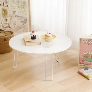 cercle holding table / 折り畳み式 ホワイト サークル テーブル おうちカフェ 韓国 北欧