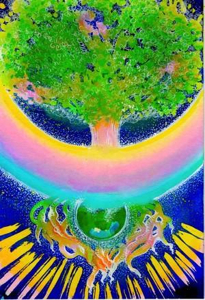 <レムリア新年祝い> 宇宙樹 原画