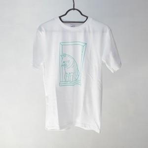 ネコTシャツ(窓辺に猫)