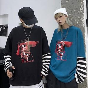 【tops】 上品デザイン感ファッション切り替えTシャツ23164234
