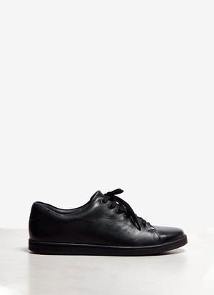 LEATHER SNEAKERS WITH RUBBER SOLE