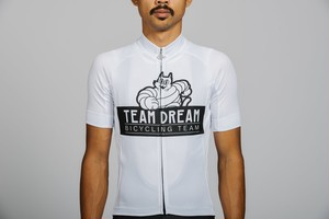 TEAM DREAM BICYCLING TEAM / Staple Fit Meowchelin Cat Jersey / White