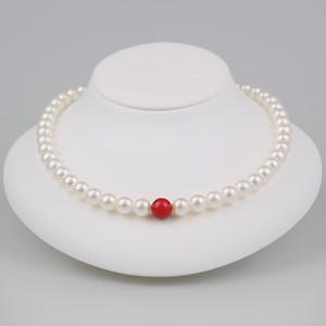 丹頂90(Tanchou)【Akoya8.5-9.0mm/Coral10mm】Necklace