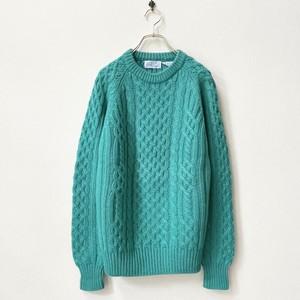 レディース 80年代 ケーブル編み ニットセーター アメリカ古着 日本M