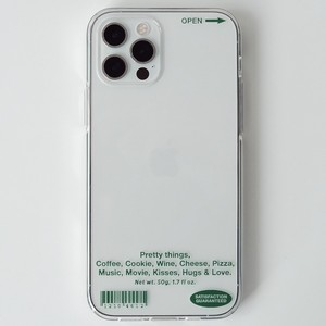 【t.e.a】Things Jelly (green) / iphone スマホ ケース カバー ジェリー ソフト 韓国雑貨