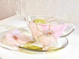 大人気【母の日プレゼント】エレガントローズ薔薇バラティーカップ&ソーサー1つ|母の日ギフト・還暦祝い・退職祝い・誕生日プレゼント・新居祝い